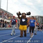 Bruce the Moose. Official Mascot at Toronto 2012 Ontario Summer Games