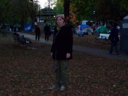 The author at Occupy Toronto.