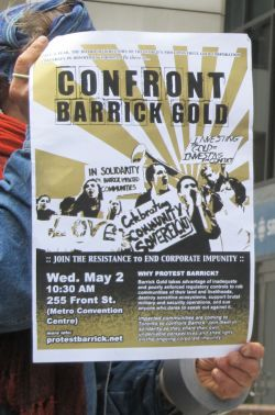 Confront Barrick Gold May 2, 2012
