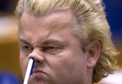 Geert Wilder, leader of the Dutch far-right Party for Freedom