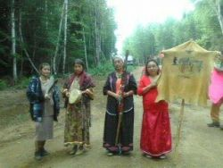 "photo by Shannon Chief ""Some of our Traditional Council Grandmother and mothers.."""