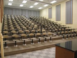 A lecture hall at Lash Miller, University of Toronto