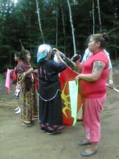 "photo by Shannon Chief ""Preparing for the March.."""
