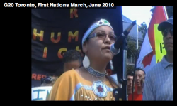 Speaker at the Indigenous Solidarity rally & march - June 24, 2010