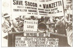 Rally in solidarity with Sacco and Vanzetti in London, England (1921)