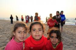 Samouni family survivors at the beach, Gaza, April 8, 2011.