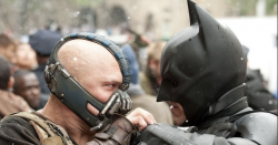 Batman fights Bane, a capitalist vigilante vs. the authoritarian revolutionary terrorist