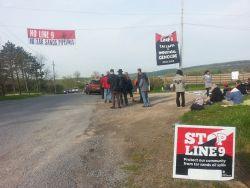 NO INTEGRITY, NO DIGS: Blockade at Line 9 Integrity Dig site