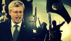 Harper is playing a double game on terror