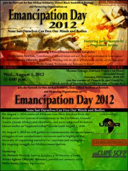 Emancipation 2012: None But Ourselves Can Free Our Minds and Bodies
