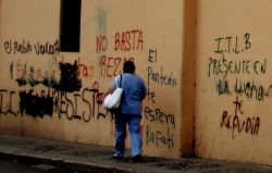 Nov. 26, 2009 - Tegucigalpa, indeed all of the country, is covered in political graffiti.  It doesn't take long to recognize that the state is in a moment of intense political struggle and repression, despite the international media's insistence that 'everything is fine.'