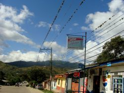 Nov. 29, 2009 - In a small town in Danli, residents explain that this main street is normally crowded and boisterous on election day.  As in every other town we visited, there is no 'fiesta democratica' to be seen.