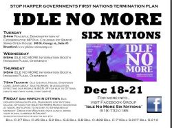 Roundtable: Idle No More - Six Nations