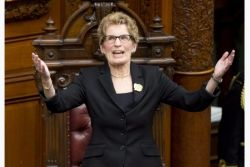 Premier Kathleen Wynne in the legislature
