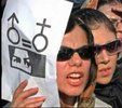 Women in Iran rally for equal rights in a March 8 demonstration