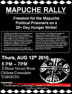Mapuche Rally - August 12 @ 5PM