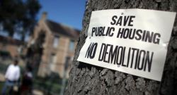 No to demolitions for public housing units in New Orleans