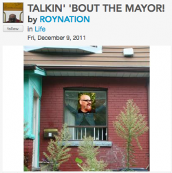 TALKIN BOUT THE MAYOR