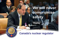 Peter Elder, for the CNSC promoting nuclear energy