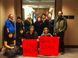 Ontario and Quebec Students for Free Education Occupy Office of Ont. Education Minister